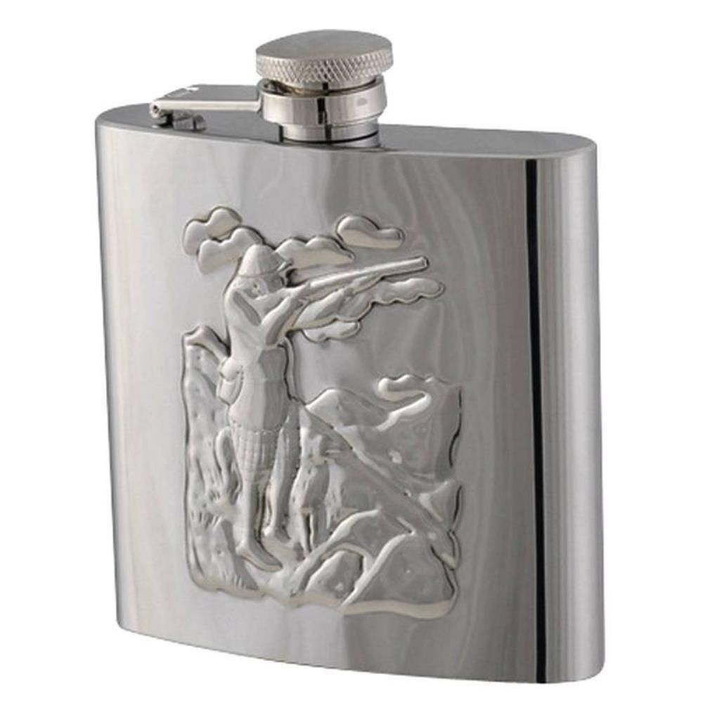 Flasque inox façon chasseur 180 ml