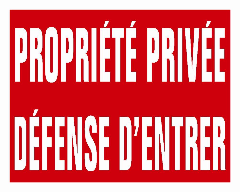 Panneau akilux propriété privée