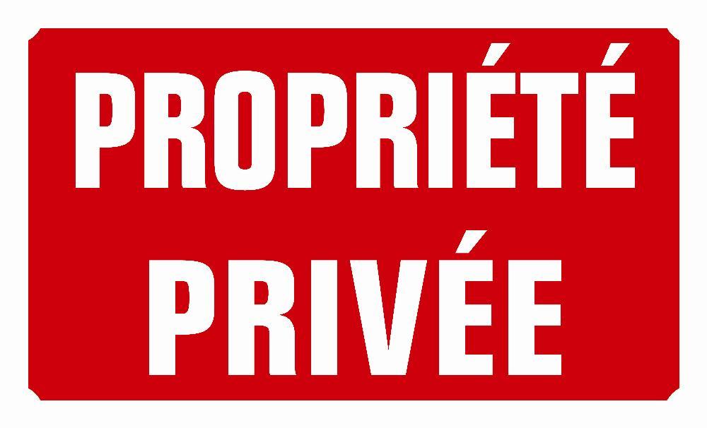 Panneau propriété privé