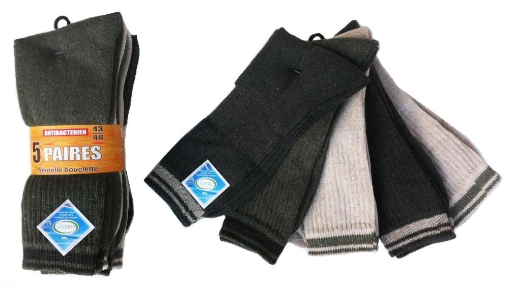 Lot de 5 paires chaussettes antibactérien