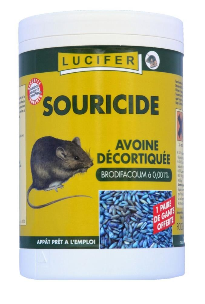 Souricide avoine 200gr bromadiolone 0.001%