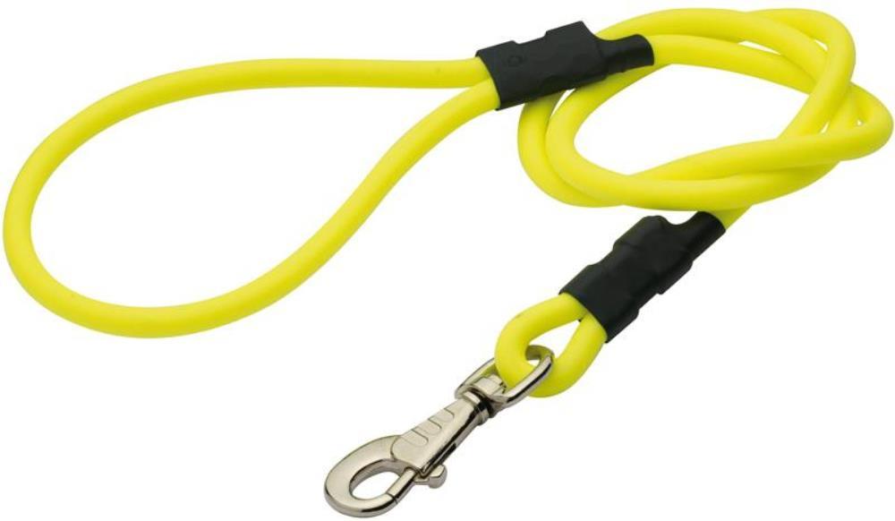 Laisse ronde PVC jaune 120 cm