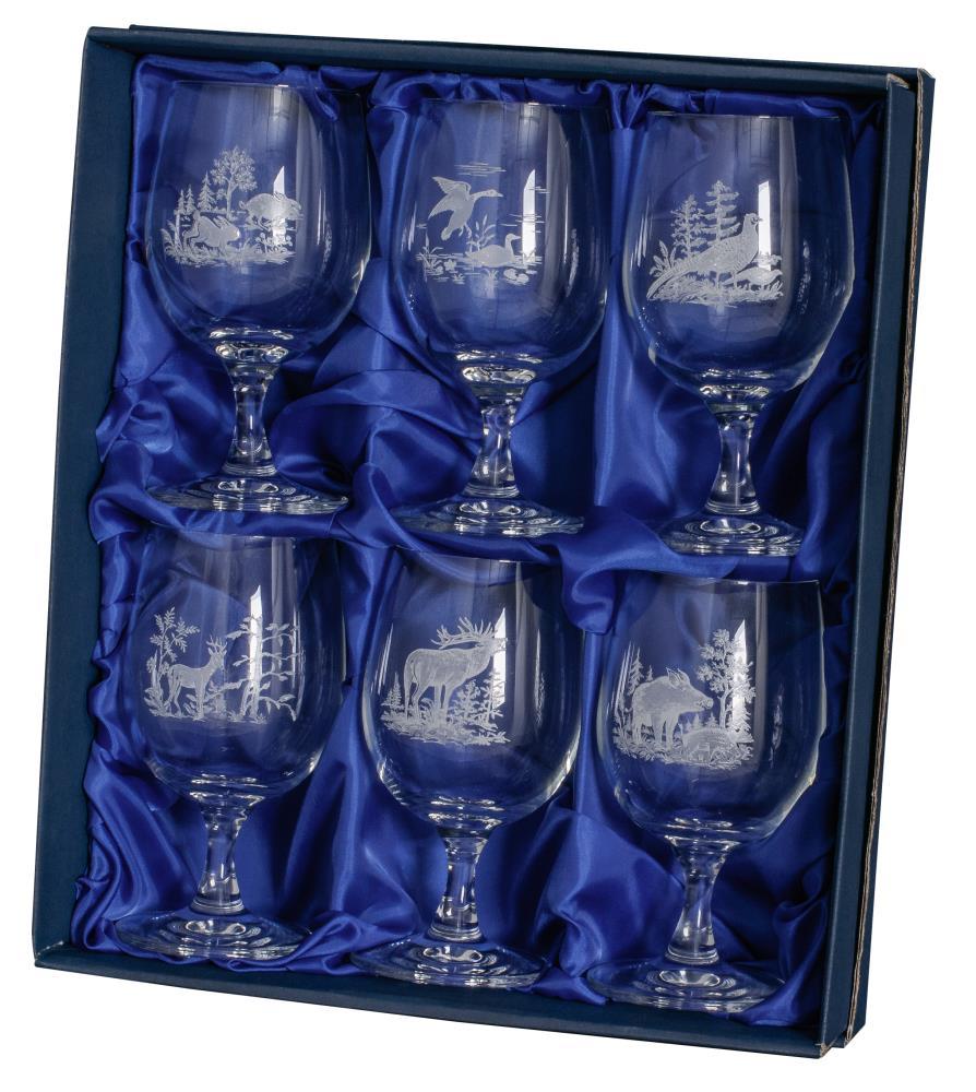 Verres à vin en cristal x 6