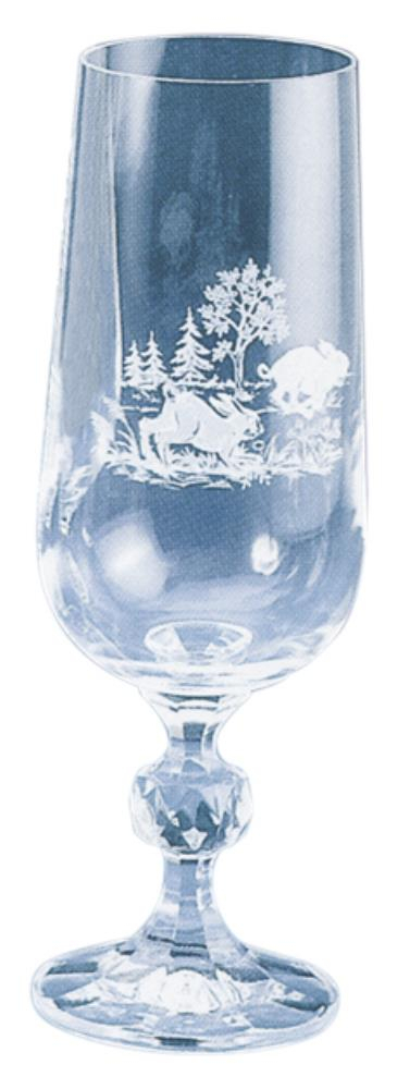 Verres à champagne en cristal  x 6