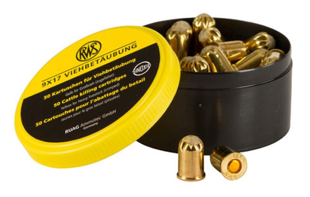 Cartouche jaune fusil a taupe x50