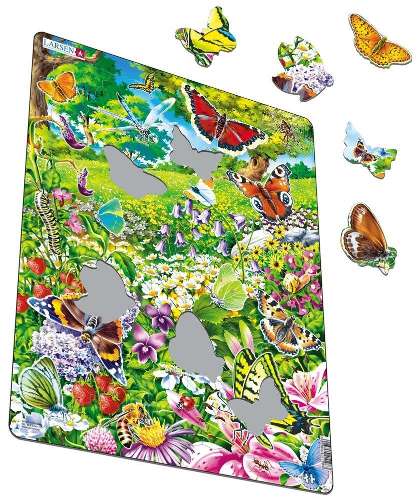 Puzzle nature et papillons