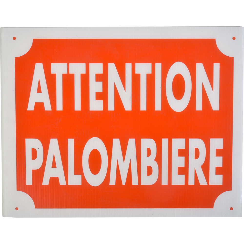 Panneau akilux attention palombière