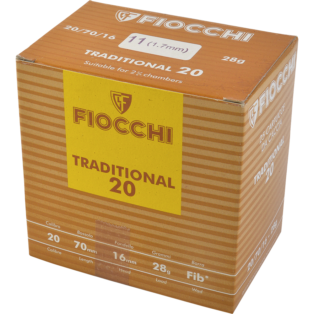 Fiocchi Tradition cal.20 28.5gr Plb 11