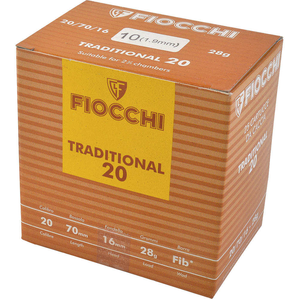 Fiocchi tradition cal. 20/70 28.5gr Plb 10