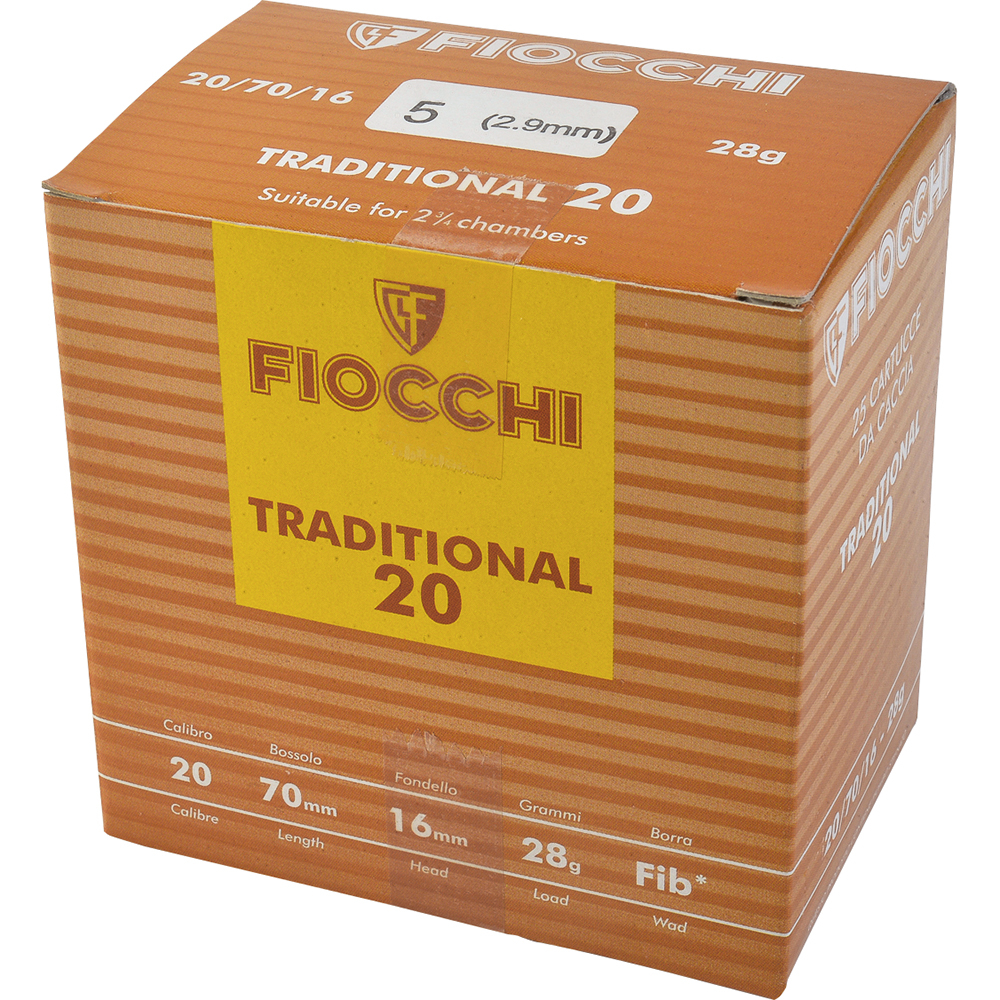 Fiocchi Tradition cal.20 28.5gr Plb 5