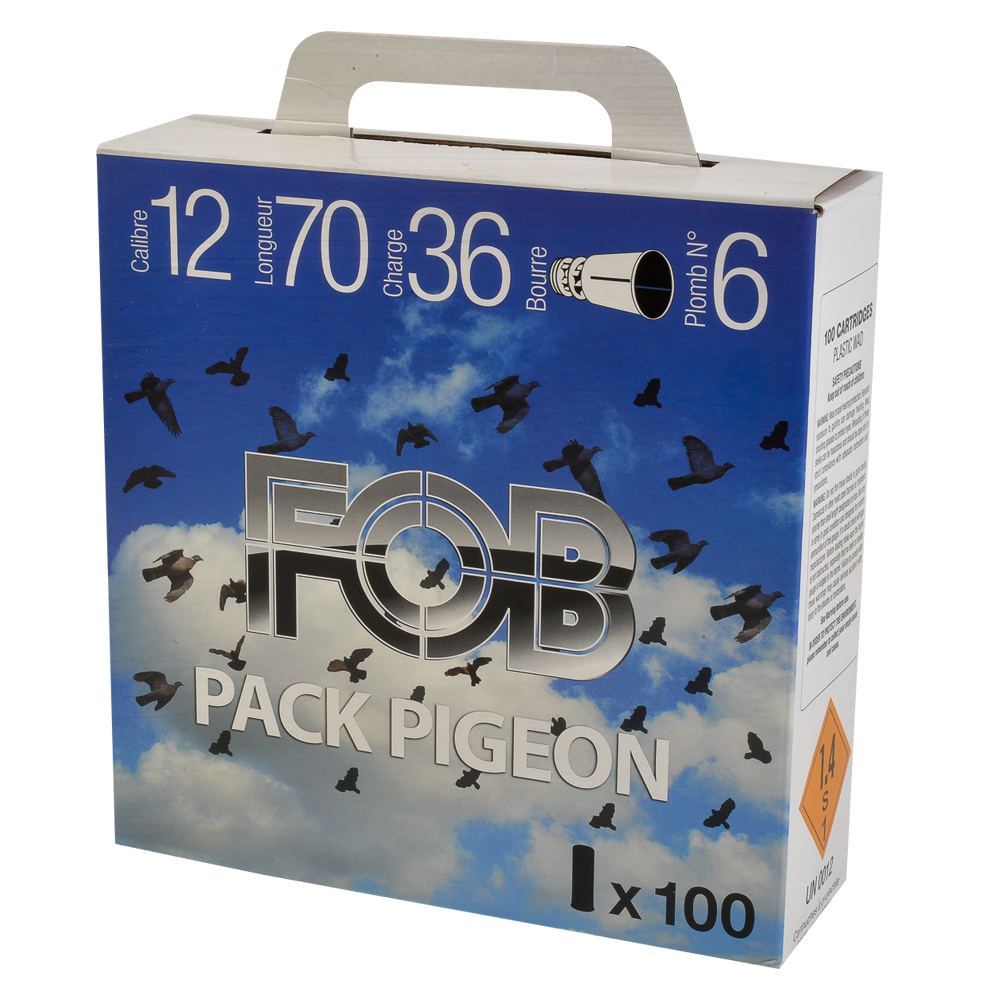 Cartouches en pack pigeon 36 FOB