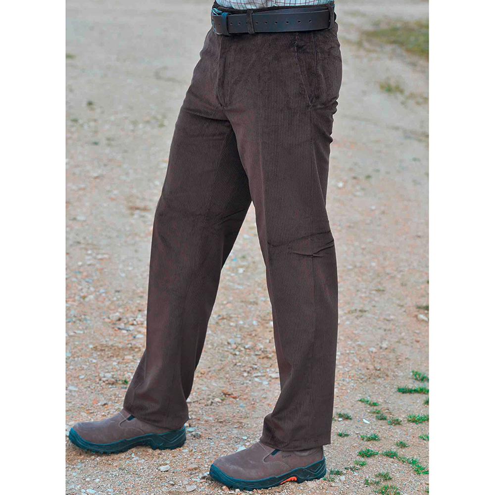 Pantalon velours Cervin marron