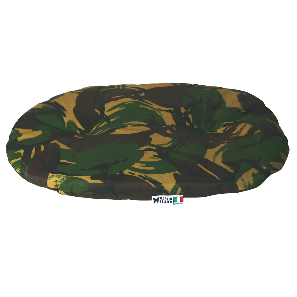 Coussin chien ouatiné camouflage