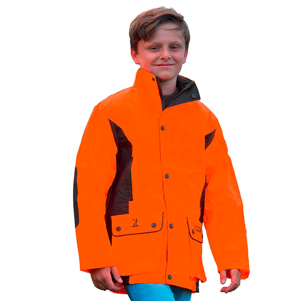 Veste de traque orange / kaki junior