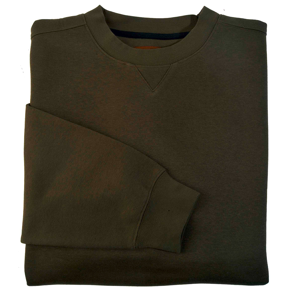 Sweat-shirt uni kaki