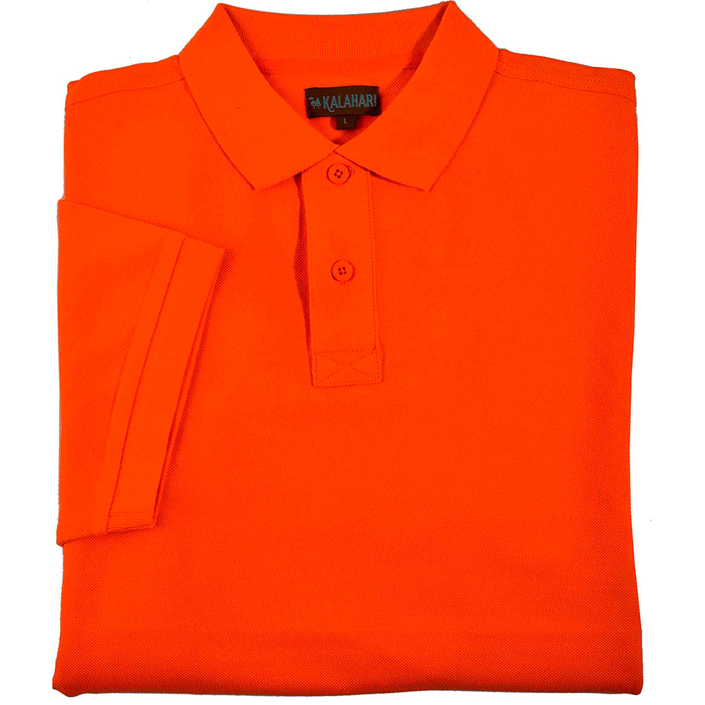 Polo maille piquée MC orange