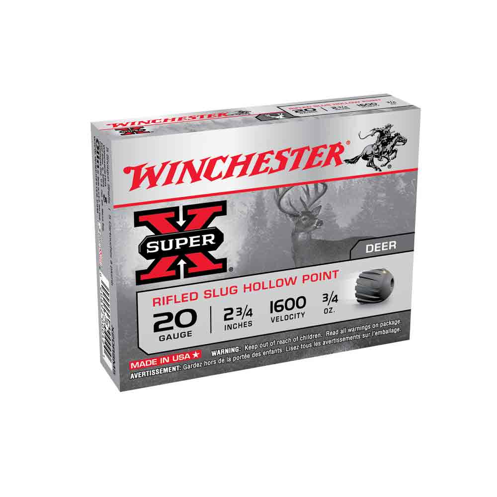 Cartouches Slug Super X Rifled Cal 20-70, 21gr