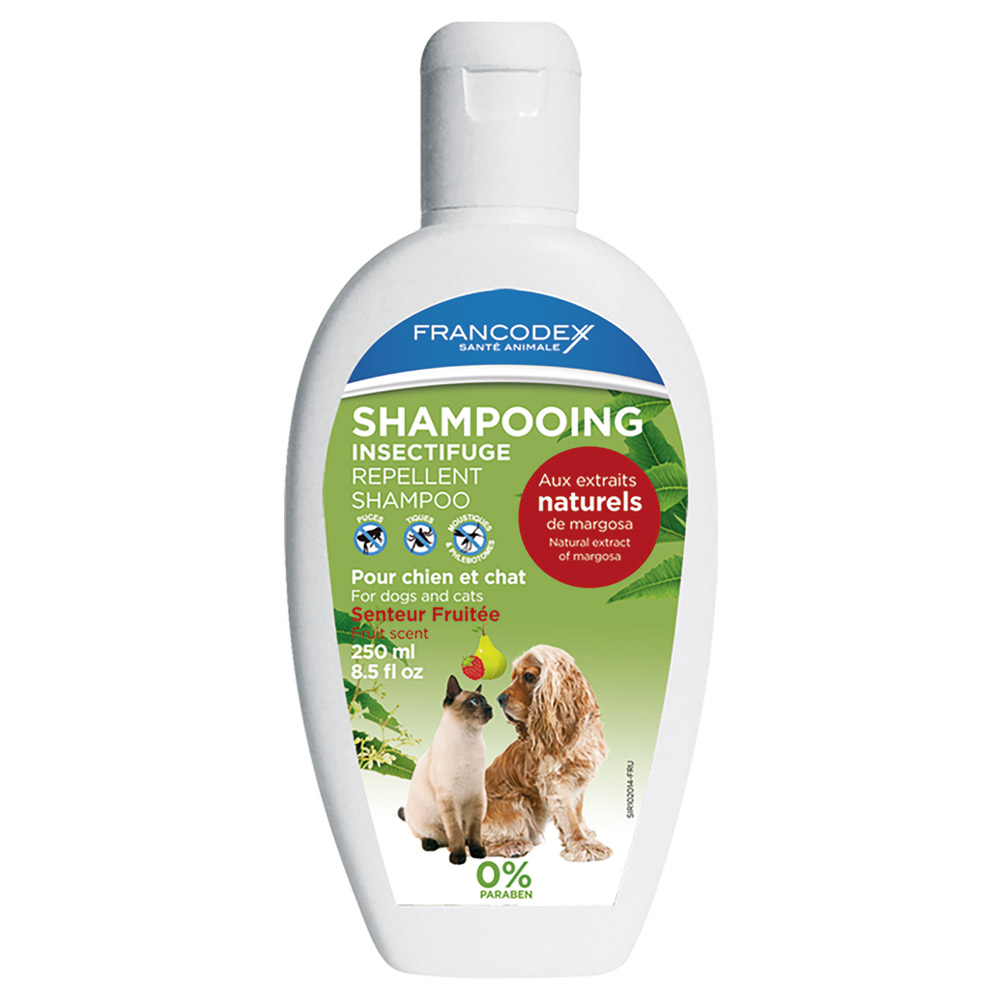 Shampooing insectifuge chien et chat