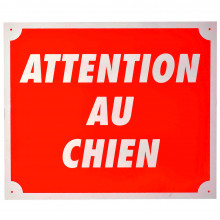 Plaque alu Attention au Chien