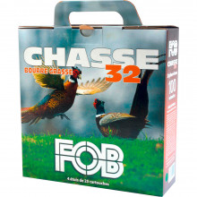 Cartouches pack chasse 12/32 bourre grasse FOB