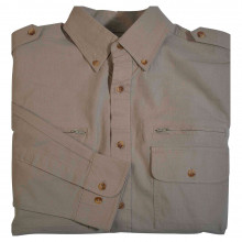 Chemise multipoches beige