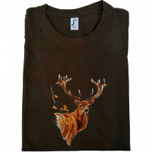 T-shirt animalier le grand cerf