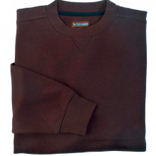 Sweat-shirt uni marron