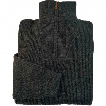 Pull col zip camionneur Corto anthracite
