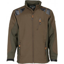 Blouson softshell Percussion marron & vert
