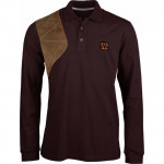 Polo manches longues hunting choco