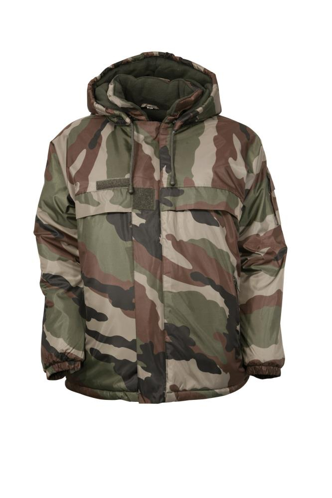 Coupe-vent fourré camo junior